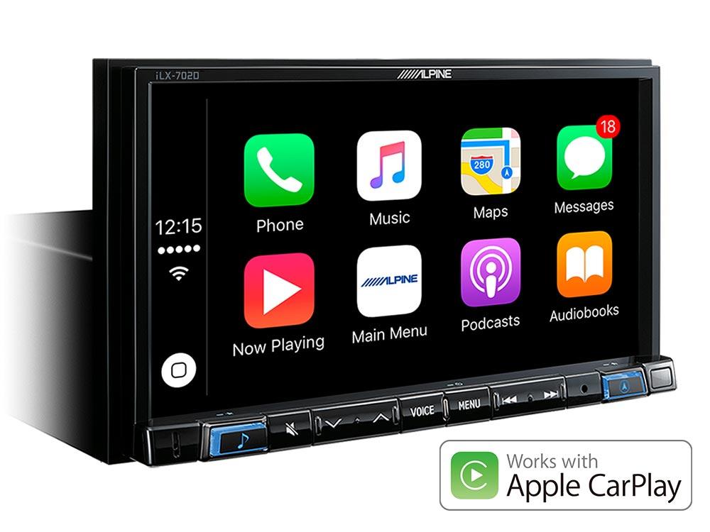 ALPINE iLX702D 7' 2-DIN APPLE Car Play / Android Auto