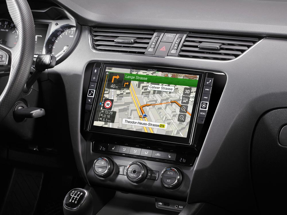 "9"" Touch Screen Navigation for Skoda Octavia 3 with TomTom maps"