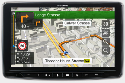 Built-in Navigation with TomTom Maps - INE-F904D