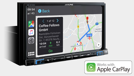 Online Navigation with Apple CarPlay - INE-W720DC
