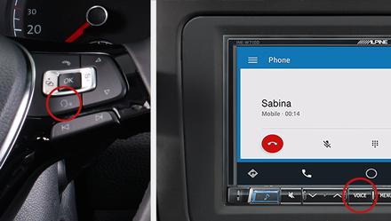 Voice Control - Navigation System INE-W720DC