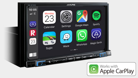 Works with Apple CarPlay - INE-W720DC