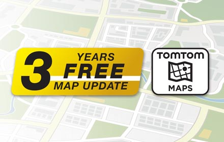 TomTom Maps with 3 Years Free-of-charge updates - X803DC-U
