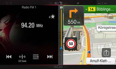 Audi A4 - Audi A5 Navigation System - X701D-A4: One Look Display