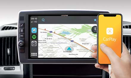 X903D-DU2 is compatible with both Apple CarPlay and Android Auto - X903D-DU2