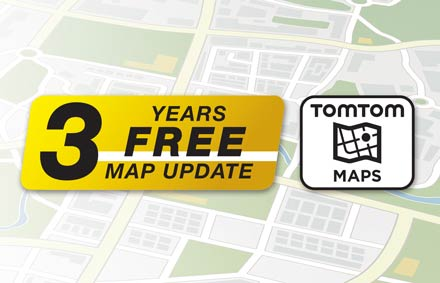 TomTom Maps with 3 Years Free-of-charge updates - X903D-F