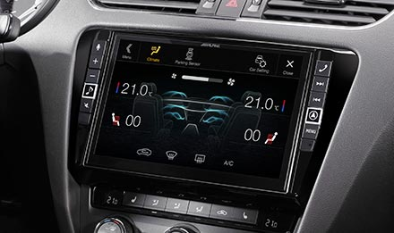 Skoda Octavia 3 - Air Condition Display - X902D-OC3